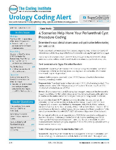 give urology coding alert magazine subscription  save 44